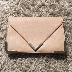 Envelope clutch for SOLE SOCIETY - beige and gold